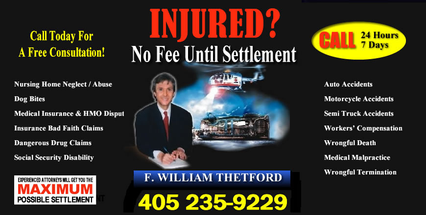 Thetford Law Firm Injured Graphic